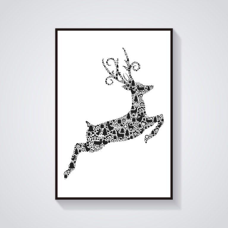 Affiche A Imprimer Scandinave Gratuit Avec Cerf D Co Noël
