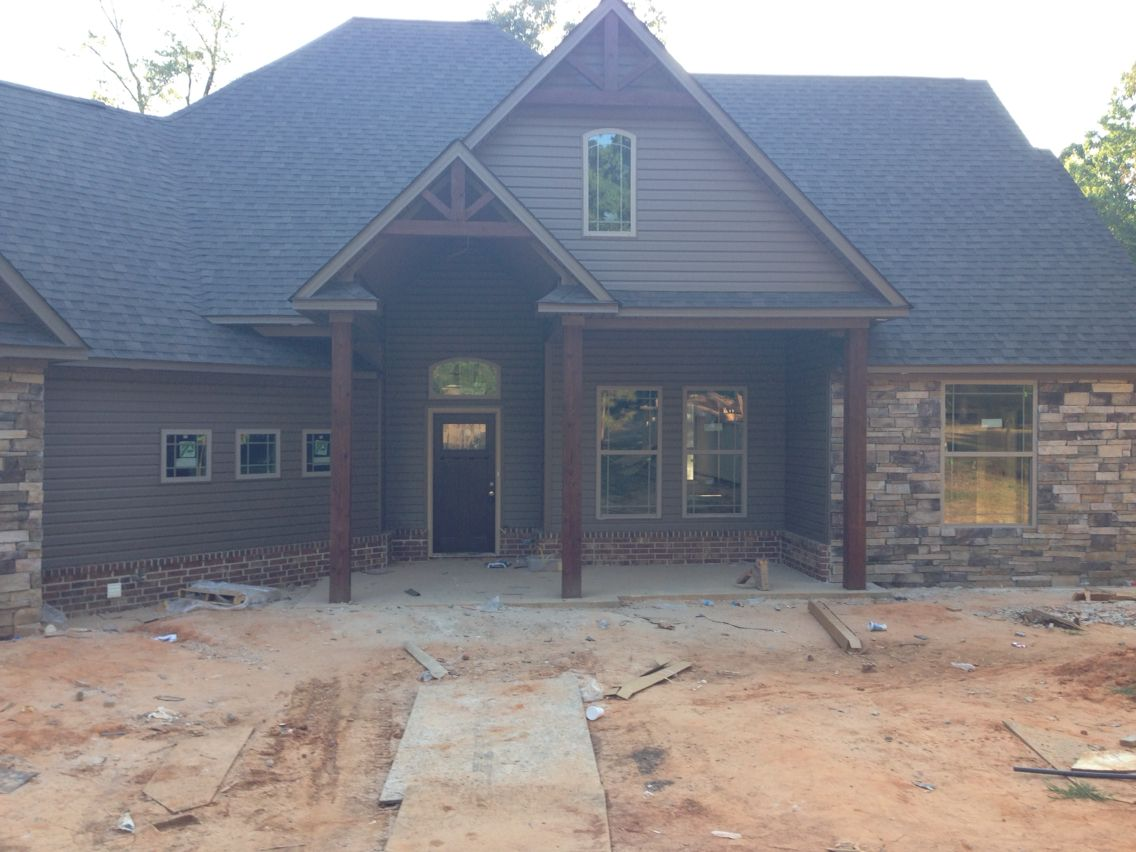 Boral Brick And Stone With Montana Suede Siding Building A New Home House Exterior Exterior House Colors
