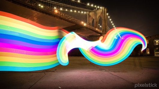 It's easy to spin or twirl the Pixelstick to create cool images (Photo: Bitbangerlabs)