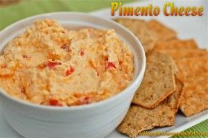 Homemade Pimento Cheese - one of my all time favorite sandwiches!  Love it with Wheat Thins too.