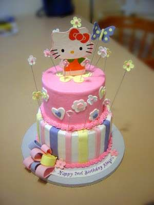Girls Birthday Cake Designs For Hello Kitty Icing To Dry