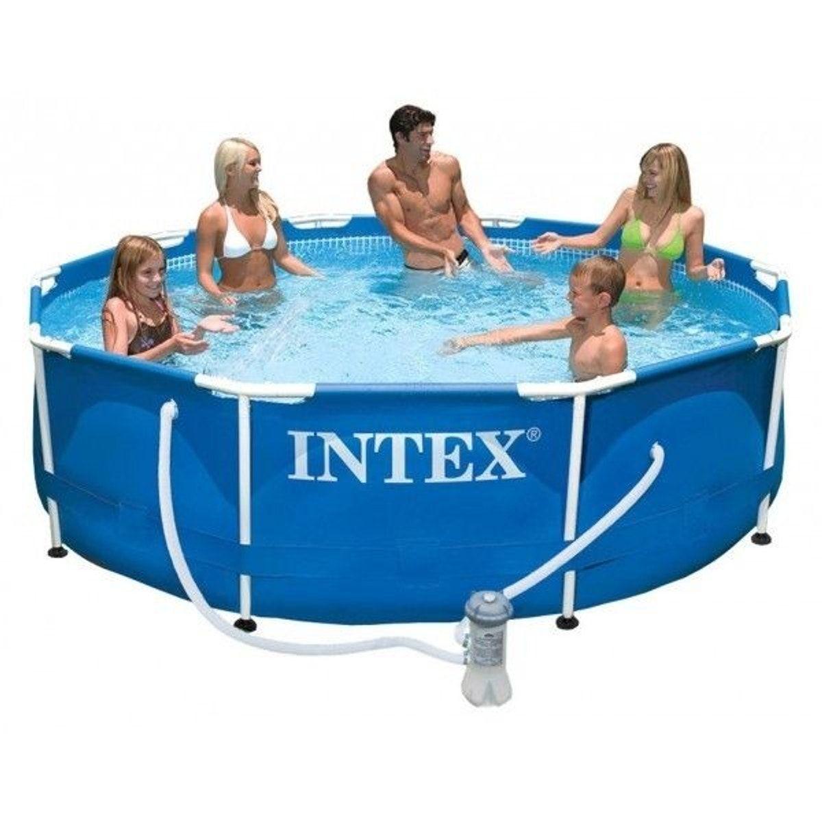 Pack piscine tubulaire et purateur metalframe x - Piscine tubulaire castorama ...