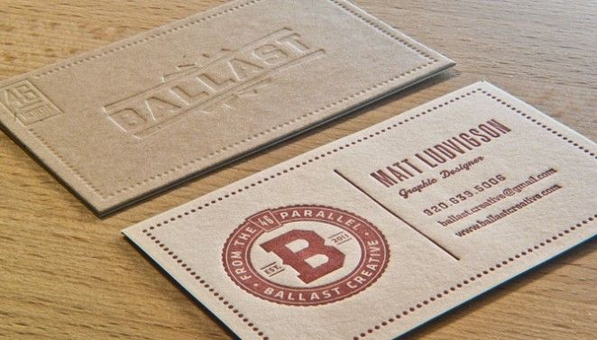 Ballast business cards business cards pinterest business cards ballast creative letterpress business card by rise and shine press reheart Image collections