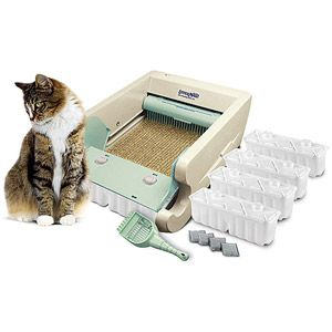 Littermaid Automatic Self Cleaning Litter Box First Edition Walmart Com Self Cleaning Litter Box Cat Litter Box Automatic Cat Litter