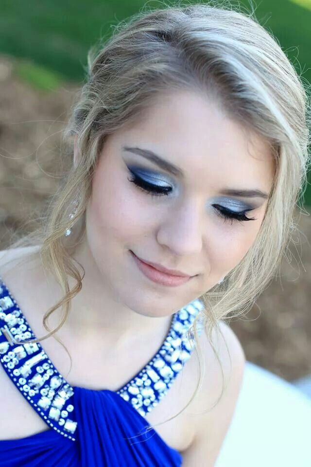 prom makeup for brown eyes and blue dress - Google Search | Makeup ...