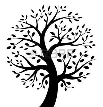 tree life: Black Tree icon Illustration