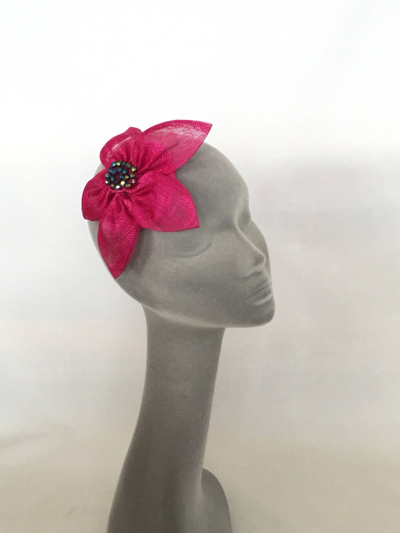 c538e1f6bef6d LAURA - Geisha Pink Flower Fascinator Headpiece Hatinator Hat for Weddings  Prom Kentucky Derby Royal Ascot