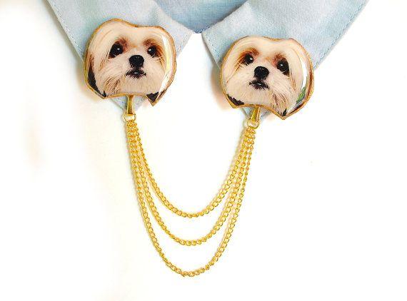 Too cute to have in real life!  Shih tzu , shih tzu jewelry , shih tzu gift , shih tzu lover , japanese dog , shih tzu art , dog breed jewelry , dog owner gift , dog lover gift , dog
