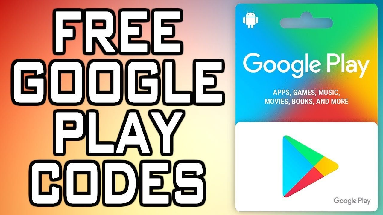 Free google play credit codes redeem codes youtube