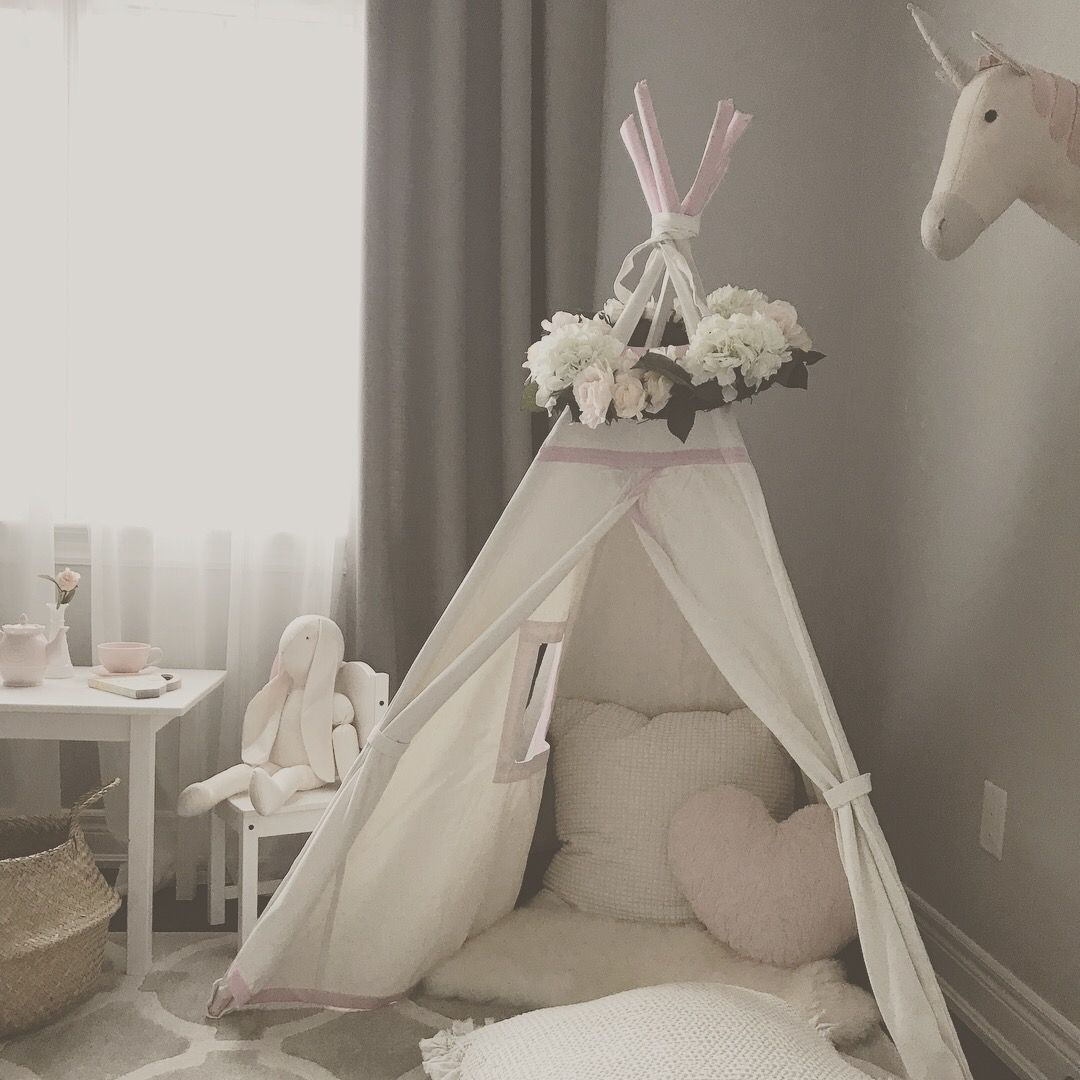 little girls bedroom with a play area for a 3 yr old audrey s rh pinterest com