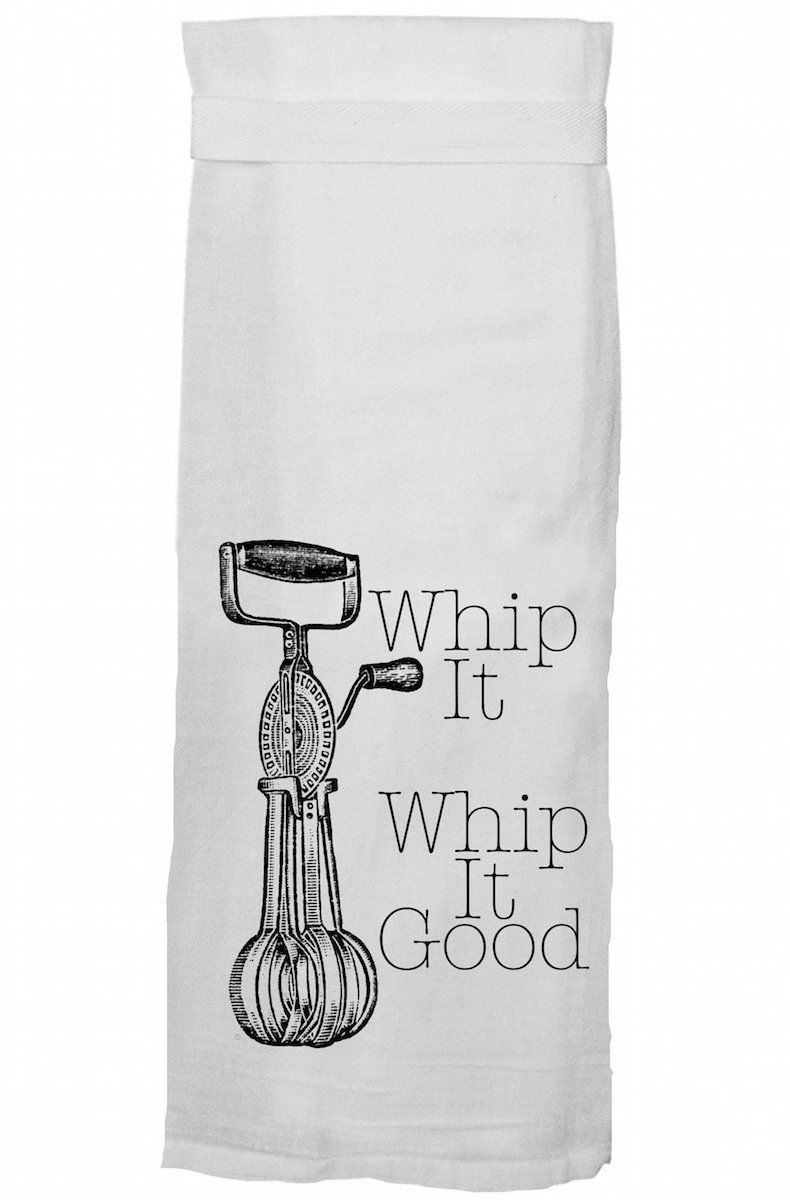 Whip It Good Dish Towel #dishtowels
