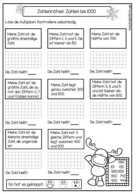 Wiederholungsheft Teilbereich 3. Klasse (1) | Mathe, Klasse und Deutsch
