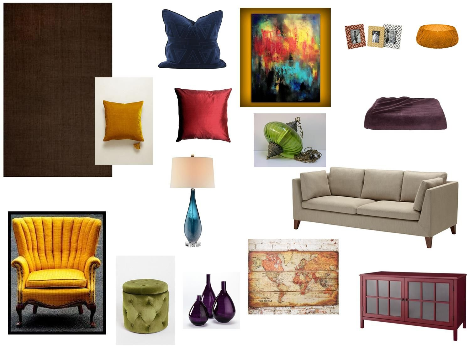 My Warm And Cozy Living Room Jewel Tones Red Plum Green Mustard Nav