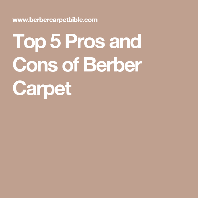 Top 5 Pros And Cons Of Berber Carpet Floors Pinterest Berber