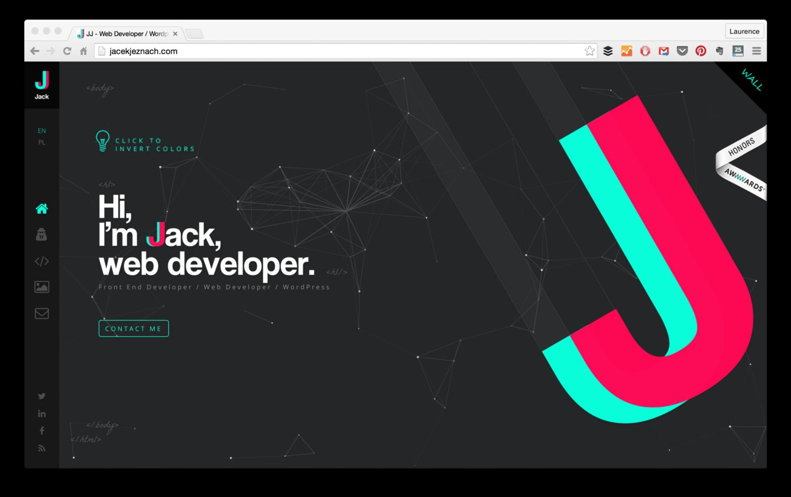 15 Web Developer Portfolios To Inspire You One Of The Toughest Things To Do As A New Deve Web Developer Portfolio Portfolio Website Design Portfolio Web Design