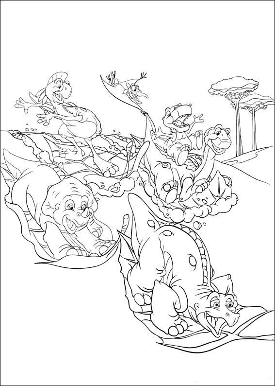 coloring page Land Before Time Kids-n-Fun | Holden birthday ...