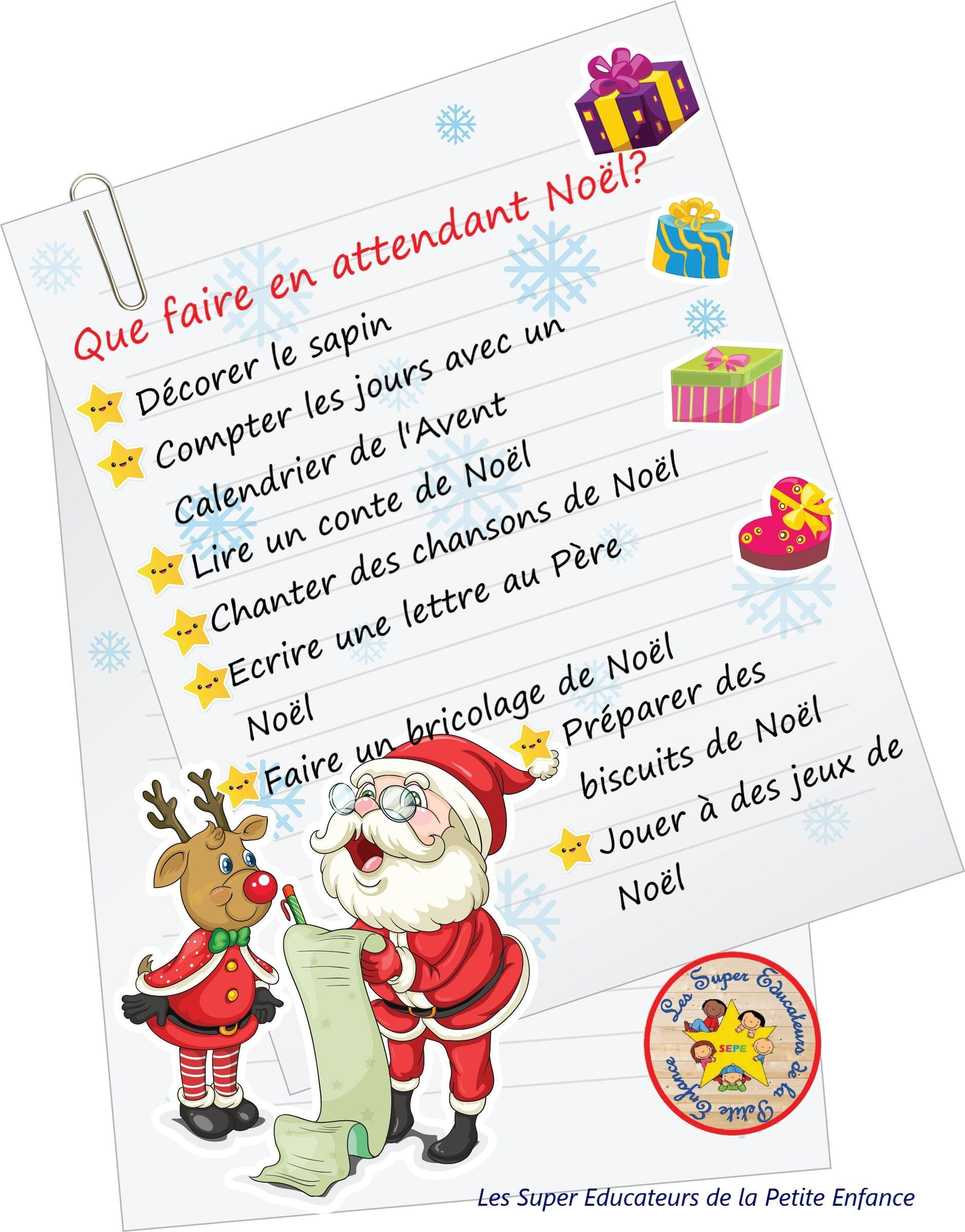 En Attendant Noel Que faire en attendant Noël ? | Winter printables, Facebook sign