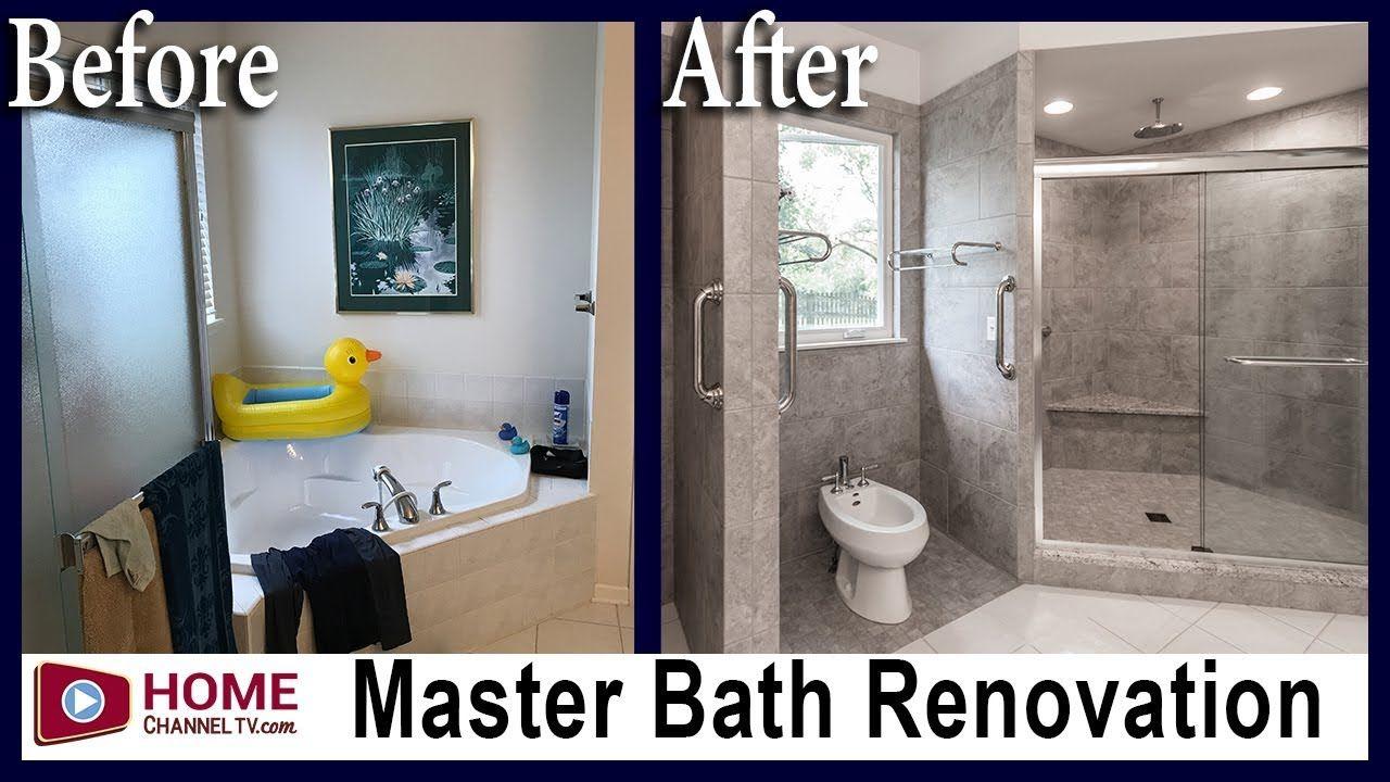 Master Bath Remodel Before After Renovation Bathroom