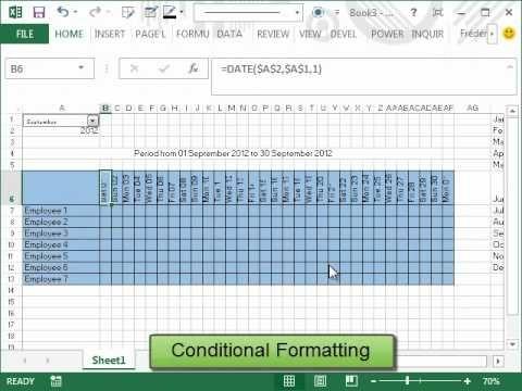 Comment créer un calendrier automatique dans Excel Technologie