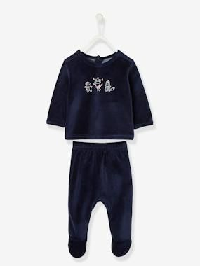 Pyjama bébé de Noël 2 pièces bleu encre - Vertbaudet #lutindenoel