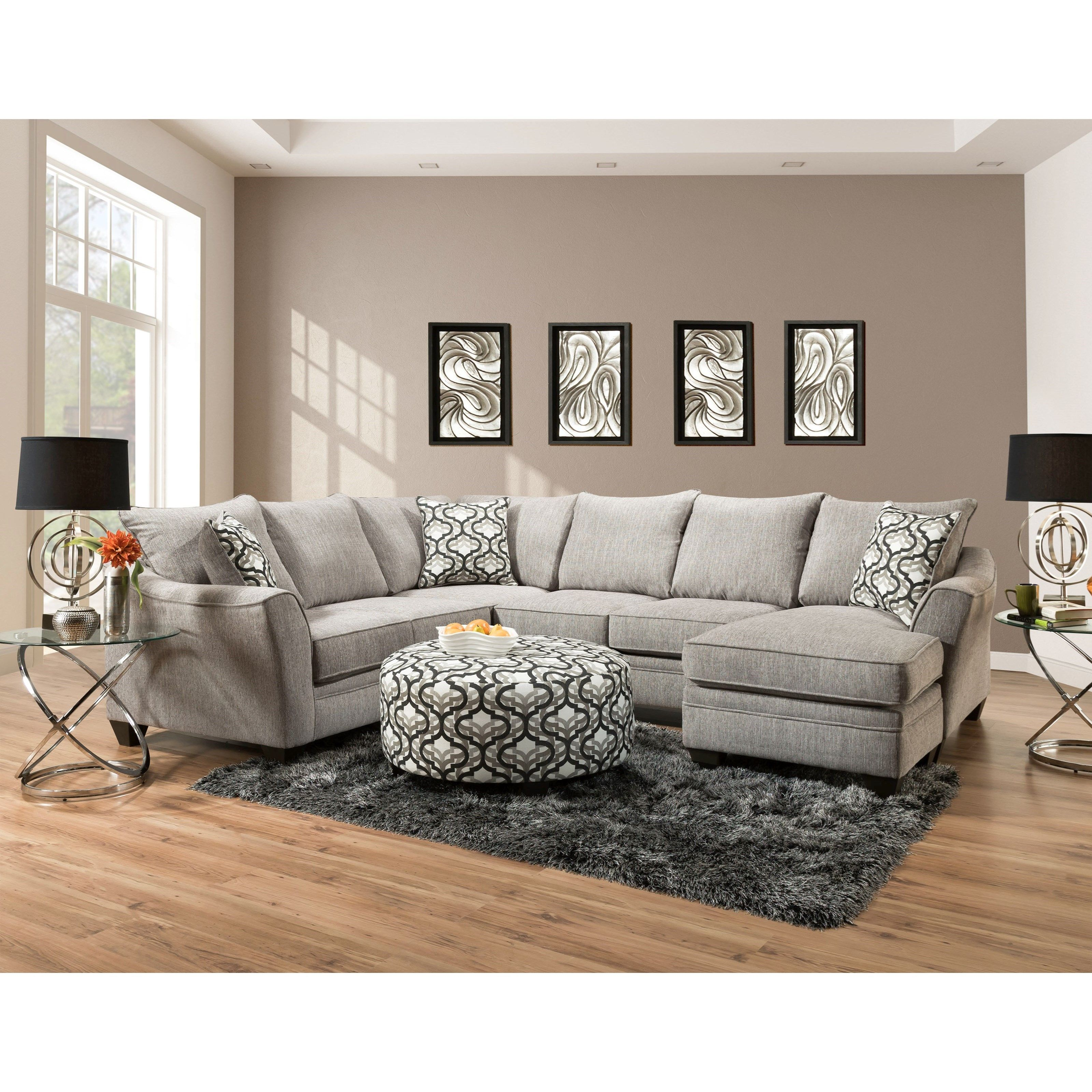 4810 5 Seat Sectional Sofa With Chaise By Peak Living Sectional