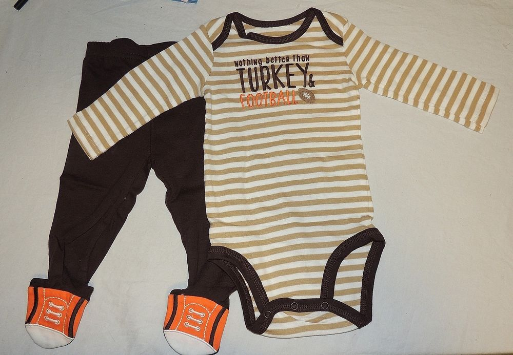 7c91b3d28 New Baby First Thanksgiving Outfit Nothing Better Football Turkey ...