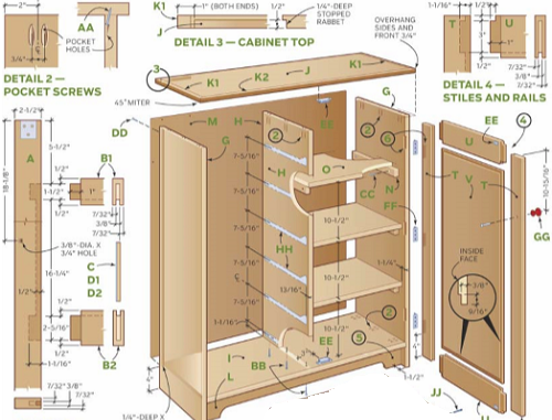 Kitchen Cabinets Plans Table With Drawers To Build Pdf Download The Leading Guide On How And Cabinet Construction Step By Instructions