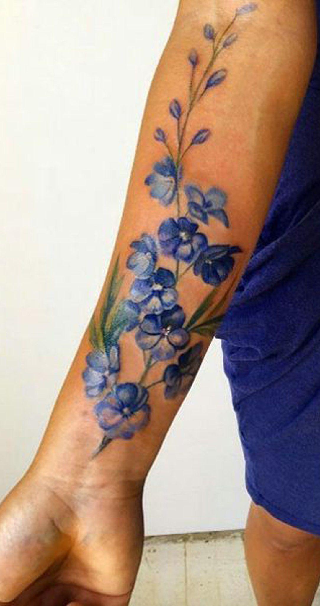 Watercolor Flower Forearm Tattoo Ideas for Women ideas