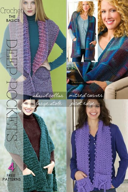 Knit Or Crochet A Pocket Scarf Free Patterns And Suggestions By
