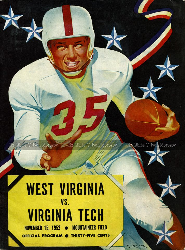 1952.11.15. Virginia Tech (Hokies) at West Virginia