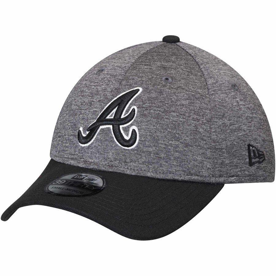 Atlanta Braves New Era Shadow Tech 39thirty Flex Hat Heathered Gray Black Atlanta Braves New Era Black Shadow