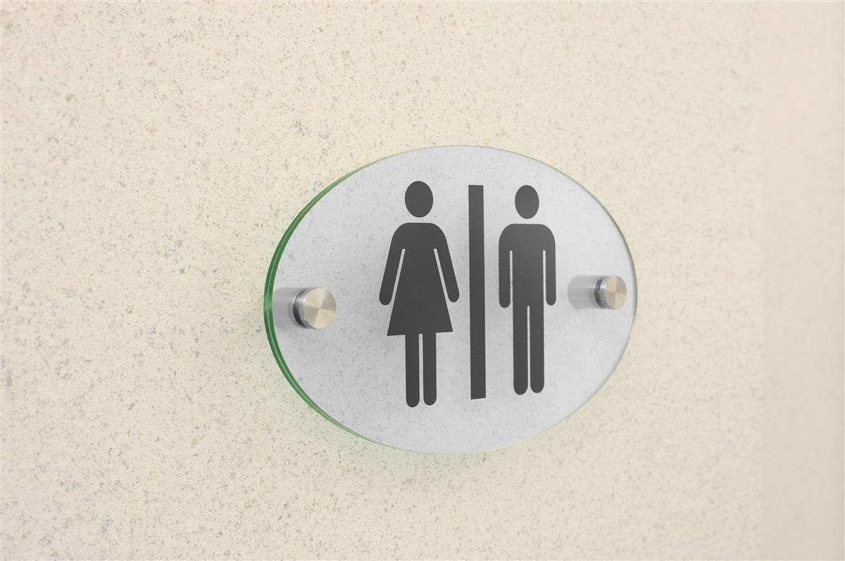 Workshop series x oval door sign w acrylic plates standoffs