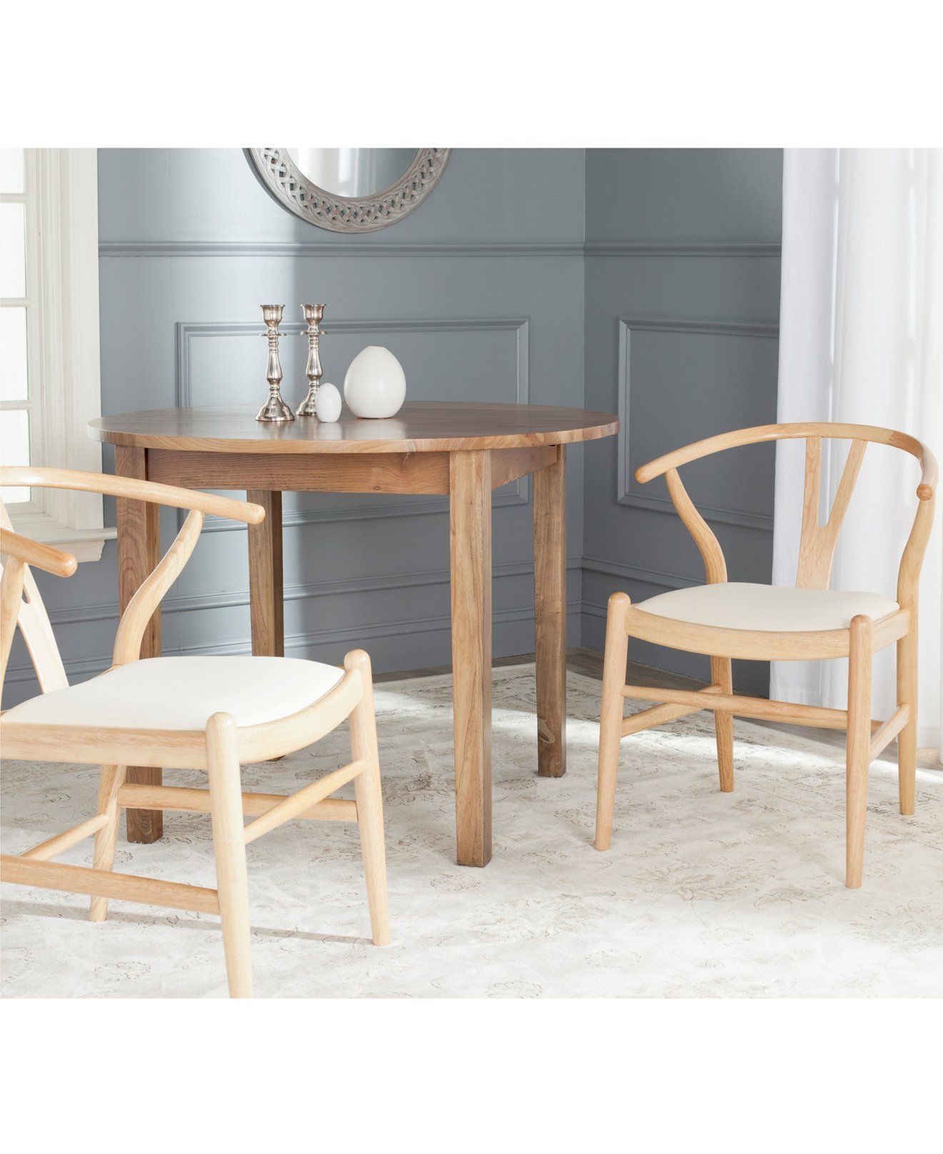 Nathan Set Of 2 Wishbone Dining Chairs, Quick Ship   Chairs U0026 Recliners    Furniture   Macyu0027s