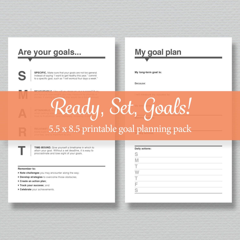 Printable Goal Planning Pack
