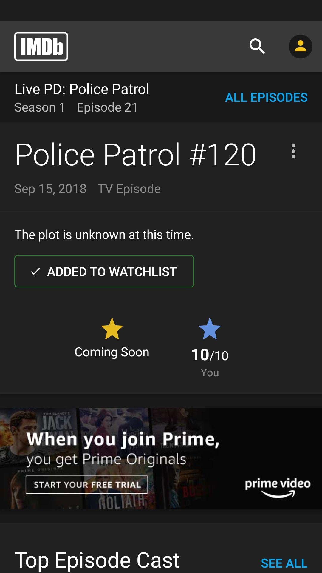 LIVE PD: S1/E21 PATROL#120 CHRIS MASTRIANNI, RICHLAND COUNTY SHERIFF