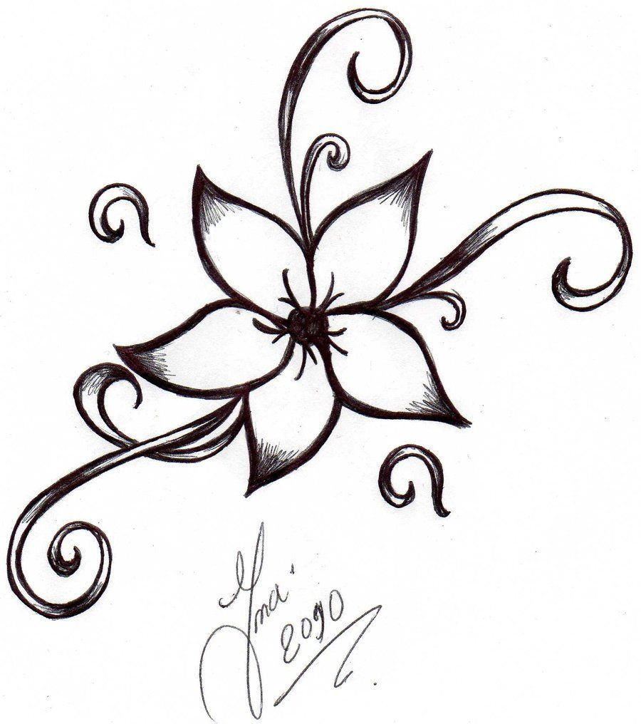 Google Image Result For Http Fc08 Deviantart Net Fs70 I 2010 070 2 9 Flower Tattoo By Shizuka Flower Tattoo Designs Easy Tattoos To Draw Simple Flower Tattoo
