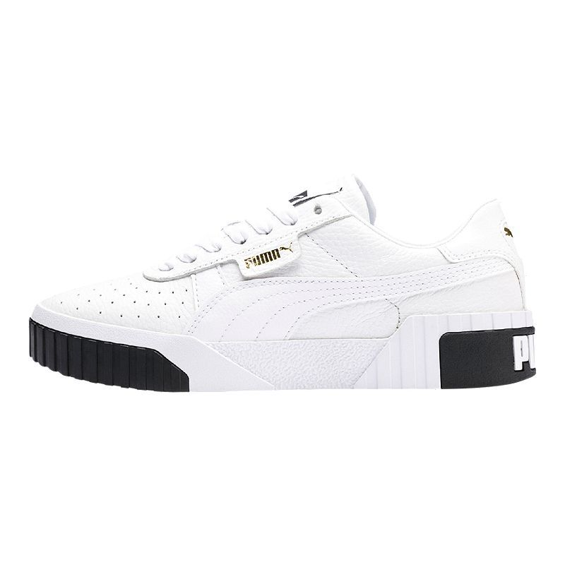 PUMA Women's Cali Shoes WhiteBlack | Puma cali, Sneakers