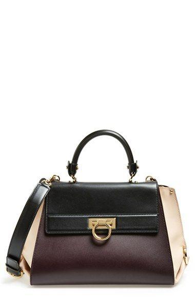 8589b693cc Salvatore Ferragamo 'Sofia' Colorblock Leather Satchel available at # Nordstrom