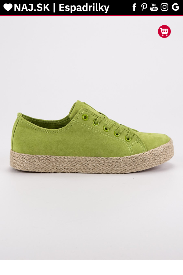 6abdcb49ae57 Zelené tenisky espadrilky Kylie