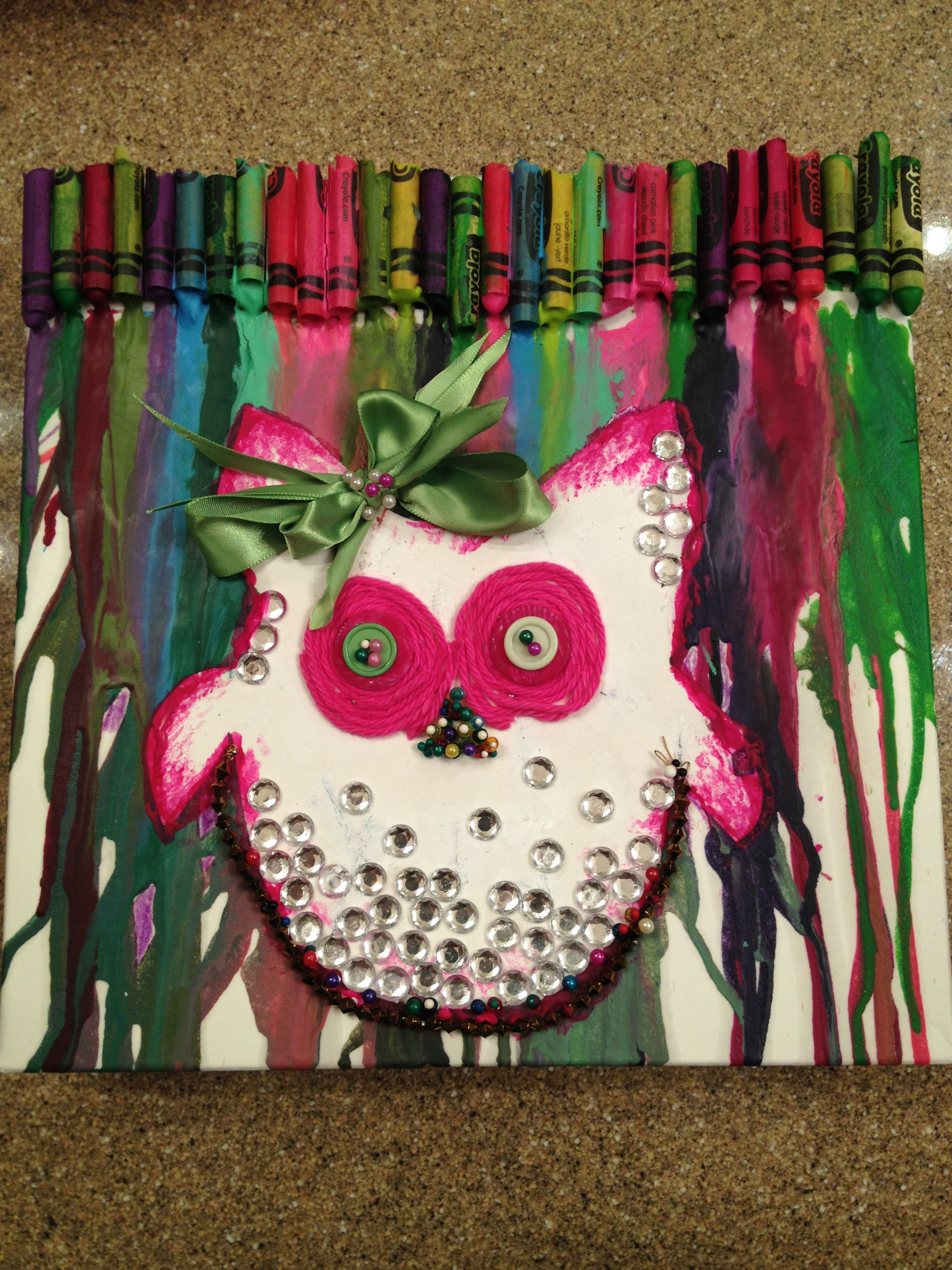 Melted crayons owl craft craft ideas pinterest owl crafts melted crayons owl craft jeuxipadfo Image collections