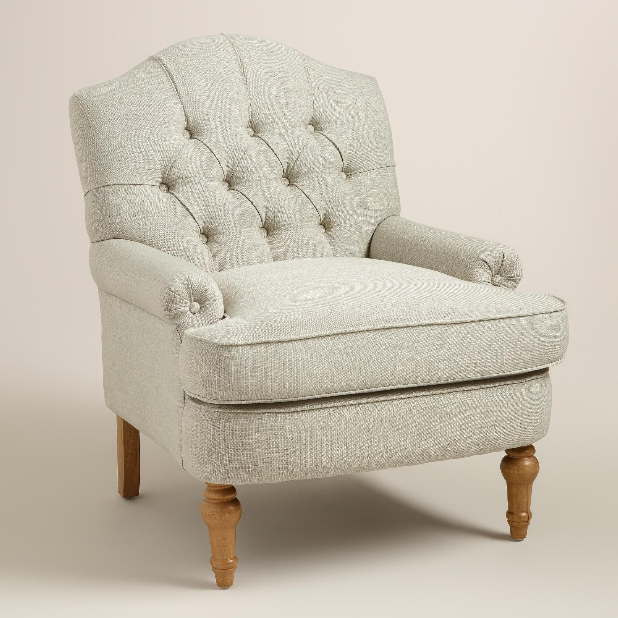 Comfy Accent Chair With Blanket: With An Arched, Tufted Back, Our Armchair Exudes A Classic