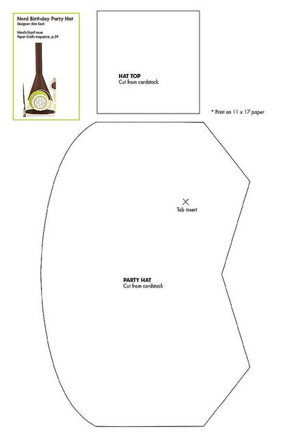 Free dunce cap party hat pattern download | Patterns for Cards, Card ...