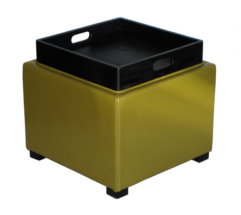 Ordinaire Aranza Cube Ottoman Storage/Tray Table