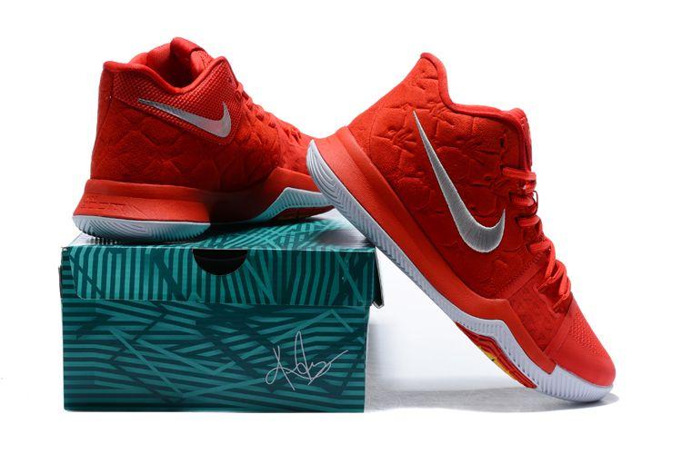 82fb04bcfffb University Red Men s Nike Kyrie 3 University Red Wolf Grey 852395 ...