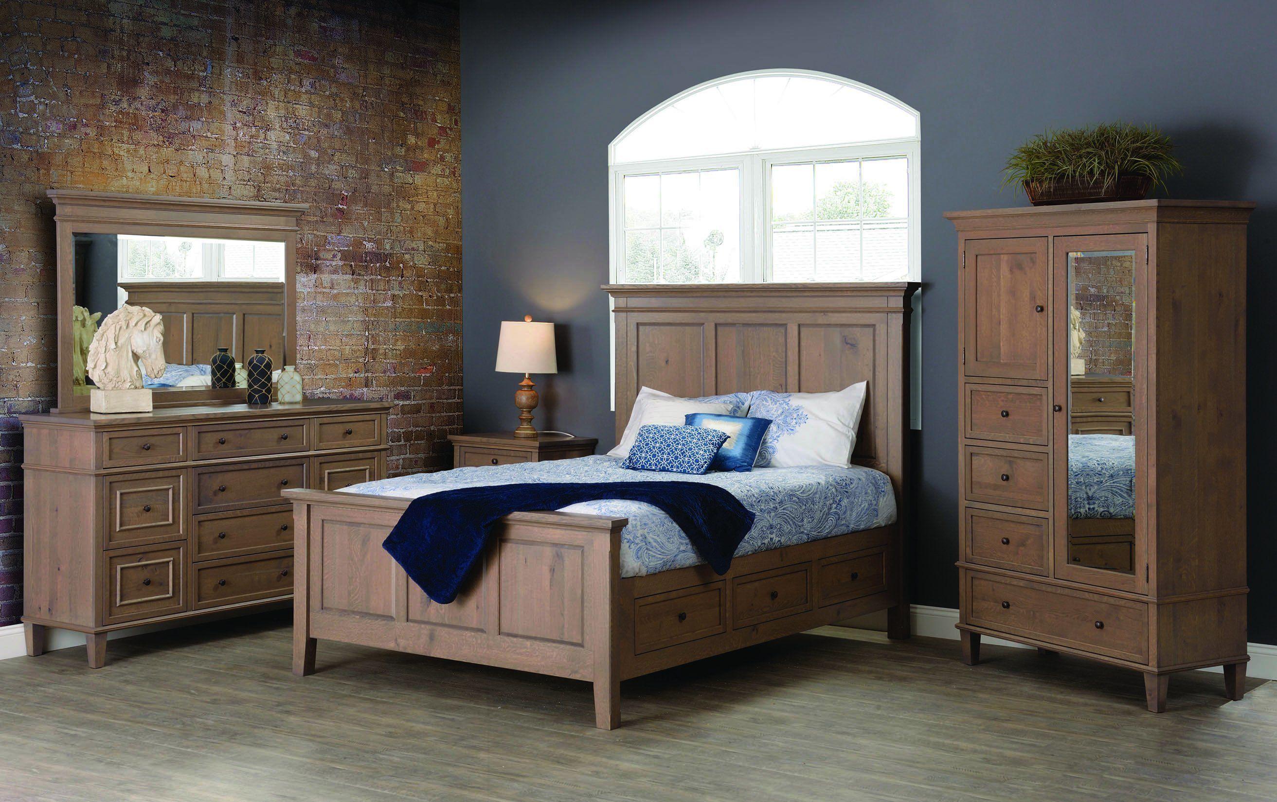 Shop the look Rustic Quarter Sawn Oak Rockport Bedroom