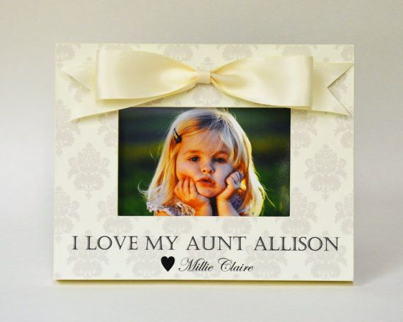 Personalized Aunt Picture Frame Gift From Niece Nephew To Auntie