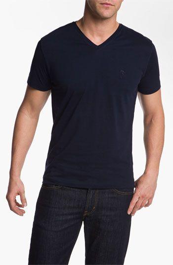 Winter Break Lunch With Fen:  Navy V-Neck T-Shirt
