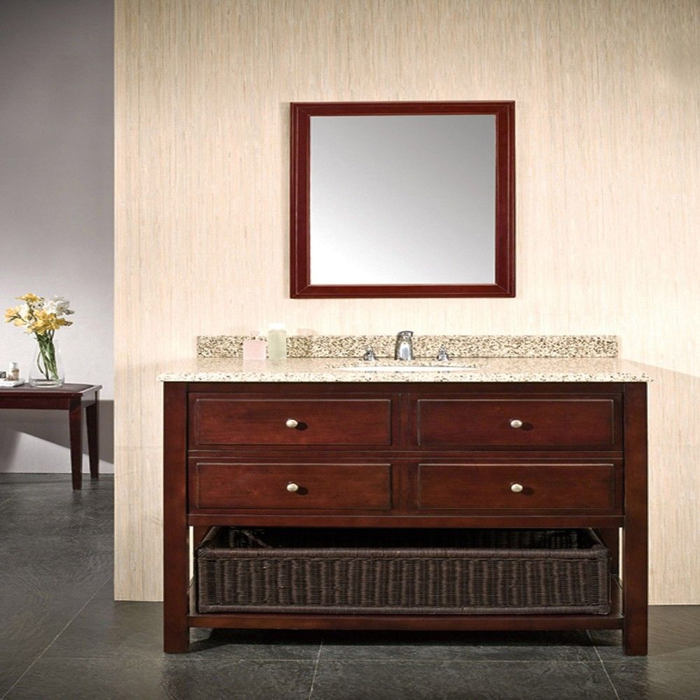 Ove Decors Dakota 42 Inch Single Sink Bathroom Vanity with Granite