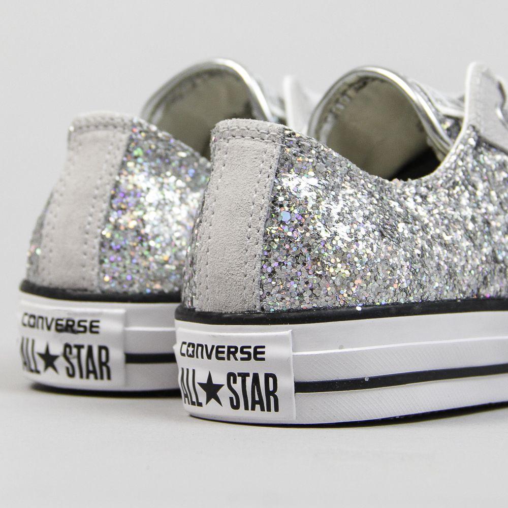 Ulanka zapatillas converse glitter plata shoes wow pinterest