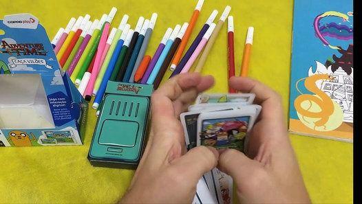 Adventure time - Hora de aventura Baralho e caderno de pintura Copag   https://www.youtube.com/watch?v=0f3uqmaRGC8
